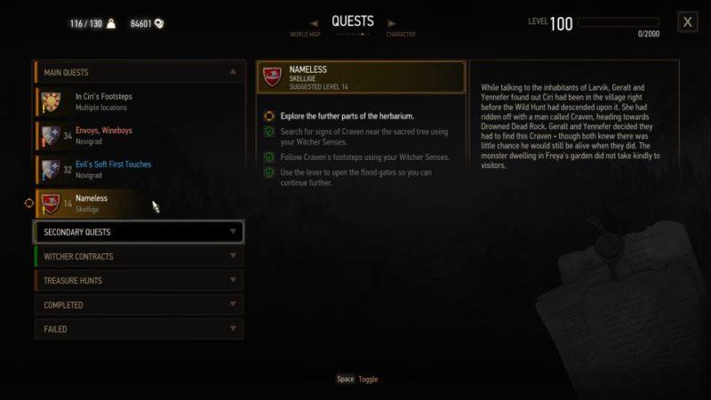 the witcher 3 - nameless quest walkthrough