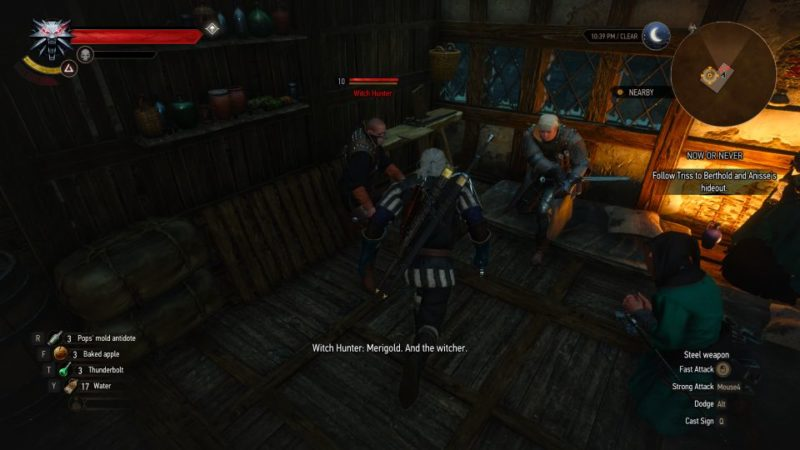 the witcher 3 - now or never mission