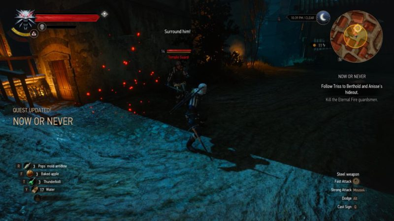 the witcher 3 - now or never quest guide