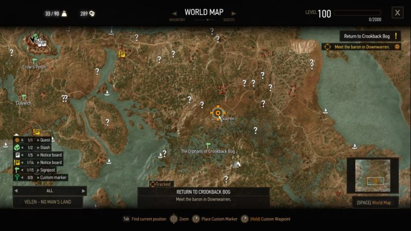 the witcher 3 - return to crookback bog guide