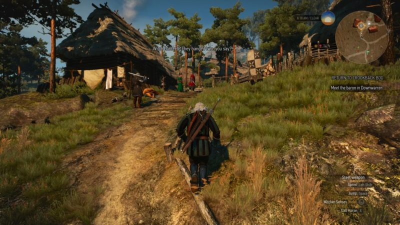 the witcher 3 - return to crookback bog mission guide