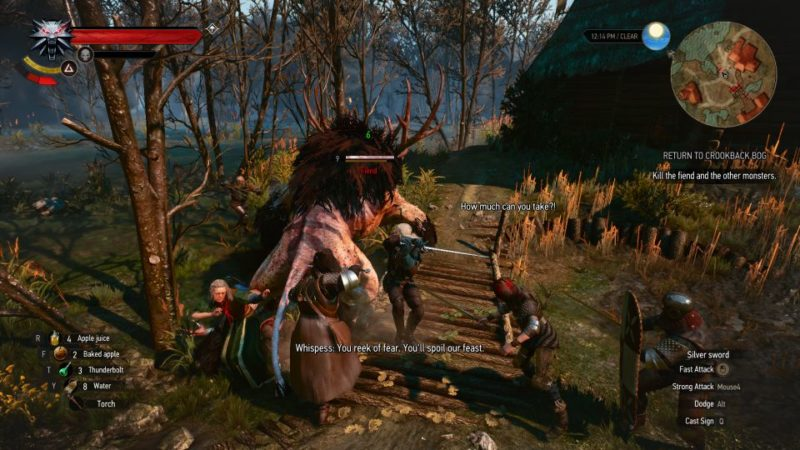 the witcher 3 - return to crookback bog tips