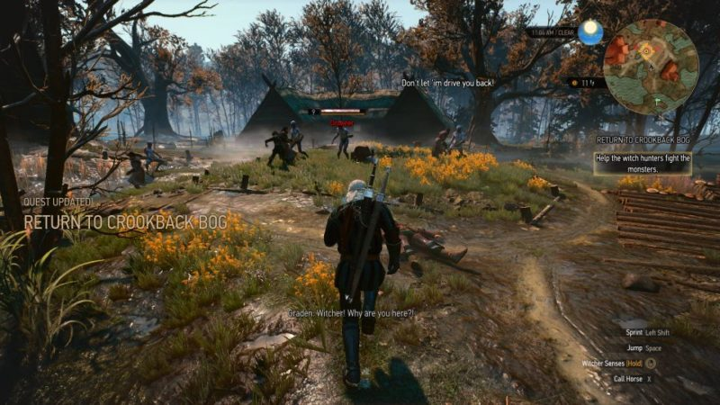 the witcher 3 - return to crookback bog walkthrough