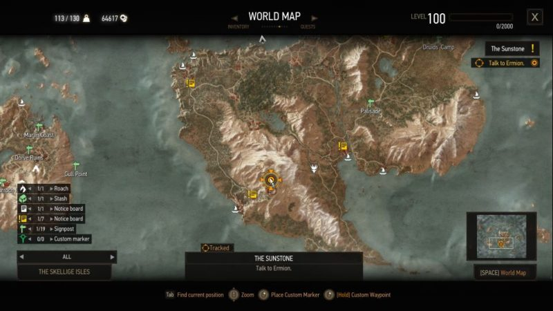 the witcher 3 - sunstone guide