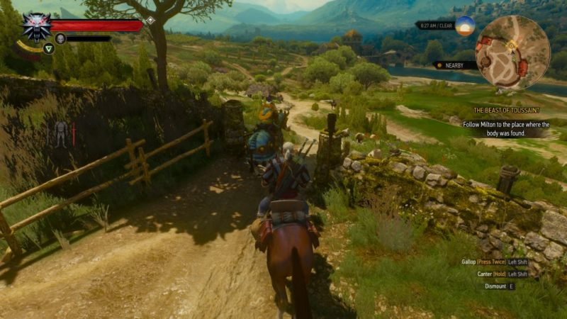 the witcher 3 - the beast of touissant quest
