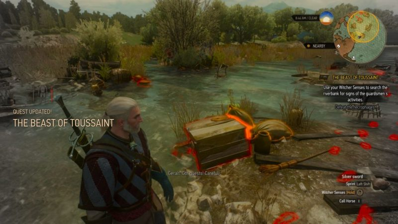 the witcher 3 - the beast of touissant quest walkthrough