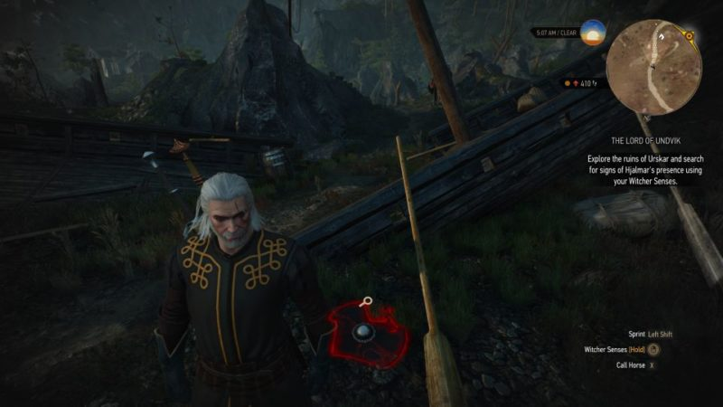 the witcher 3 - the lord of undvik side quest
