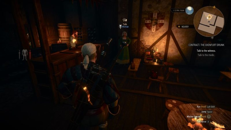the witcher 3 - the oxenfurt drunk quest