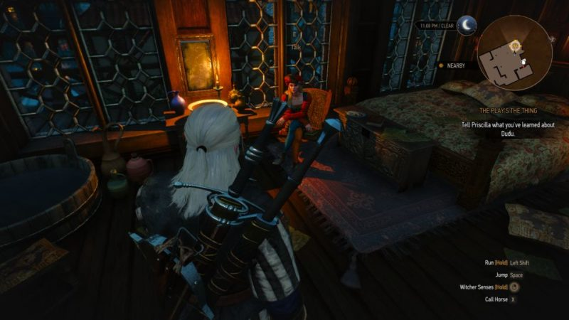 the witcher 3 - the play's the thing guide and tips
