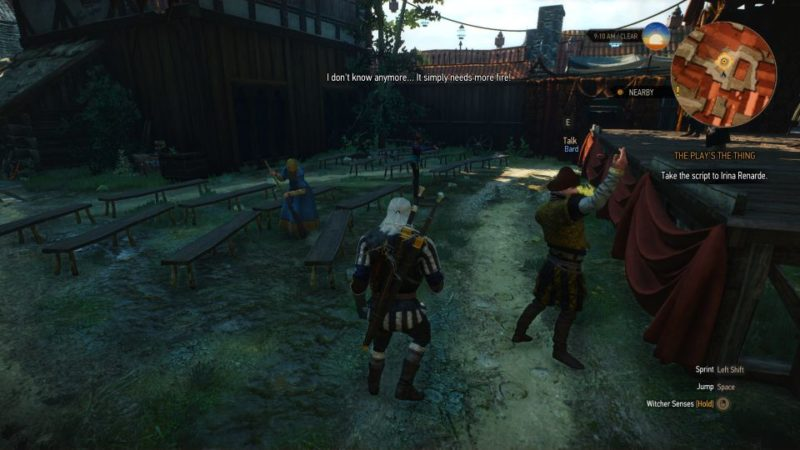 the witcher 3 - the play's the thing quest walkthrough