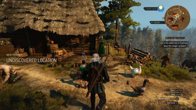 the witcher 3 - the whispering hillock walkthrough