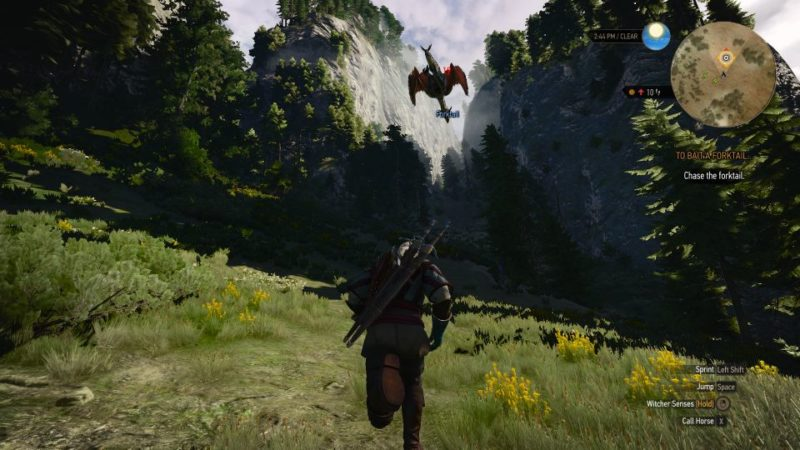 the witcher 3 - to bait a forktail walkthrough