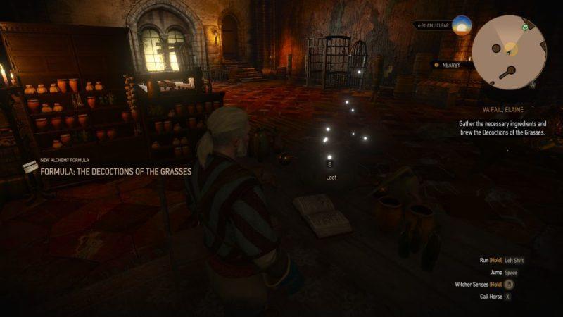 va fail, elaine - witcher 3 guide
