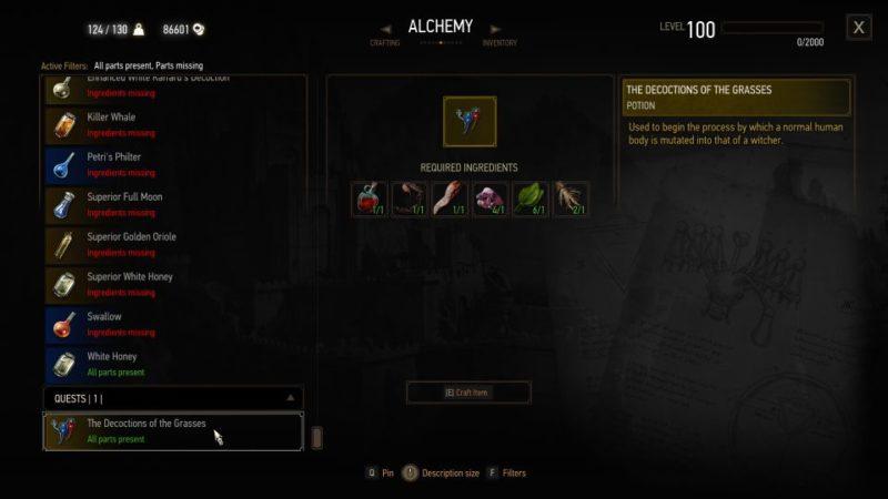va fail, elaine - witcher 3 quest guide