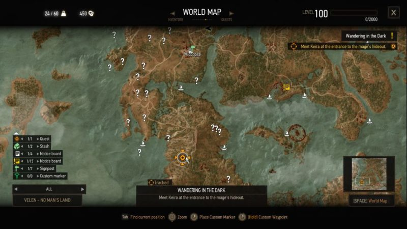 wandering in the dark - the witcher 3 guide and tips