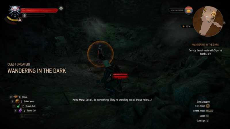 wandering in the dark - the witcher 3 mission guide