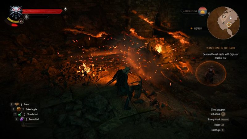wandering in the dark - the witcher 3 mission walkthrough