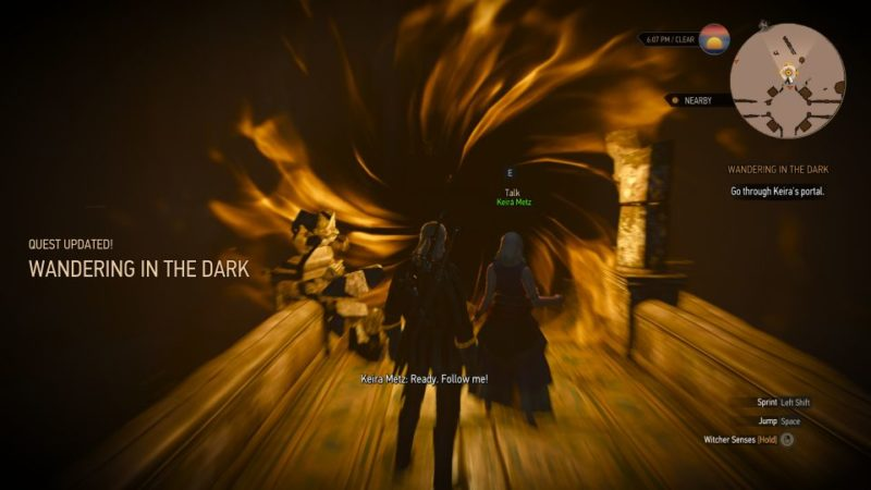 wandering in the dark - the witcher 3 quest guide