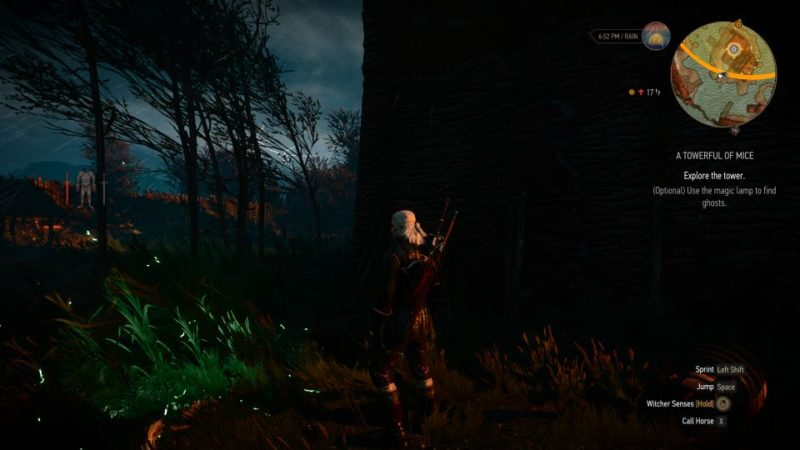 witcher 3 - a towerful of mice how to use the lamp