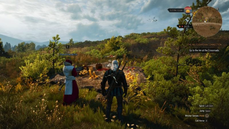 witcher 3 - funeral pyres how to start quest