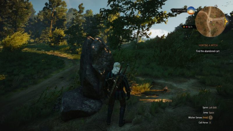 witcher 3 - hunting a witch quest walkthrough