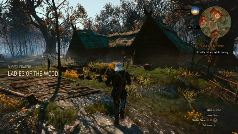 witcher 3 - ladies of the wood walkthrough