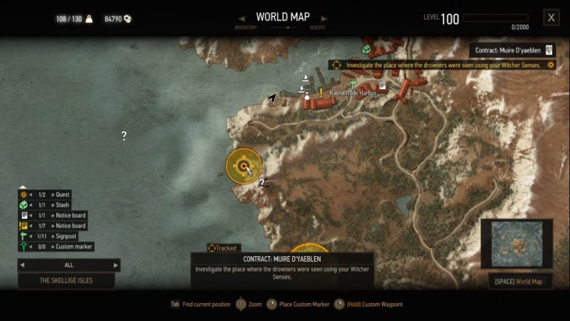 witcher 3 - muire d'yaeblen quest guide
