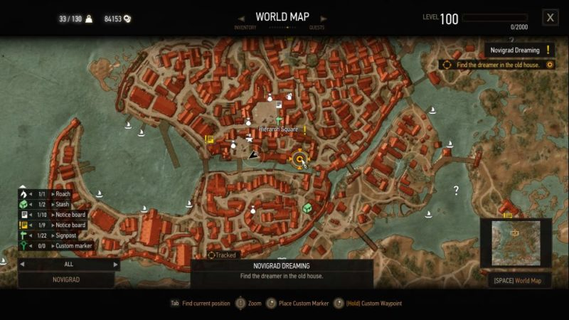 witcher 3 - novigrad dreaming guide