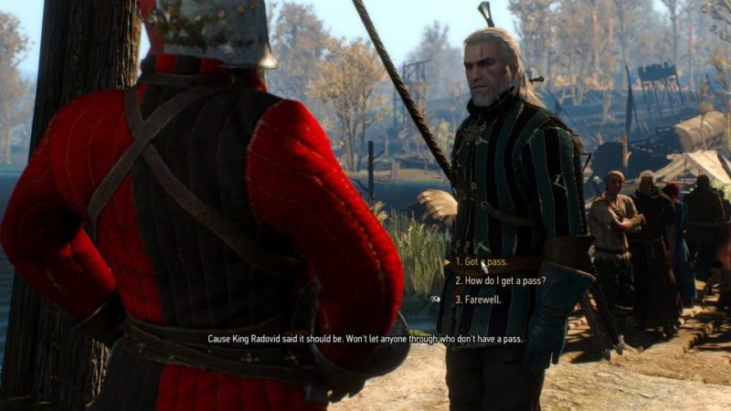 witcher 3 - pyres of novigrad how to get pass to novigrad