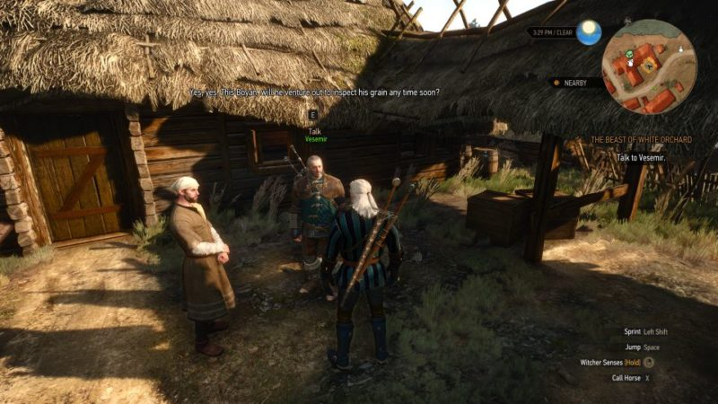 witcher 3 - the beast of white orchard - how to avoid the griffin