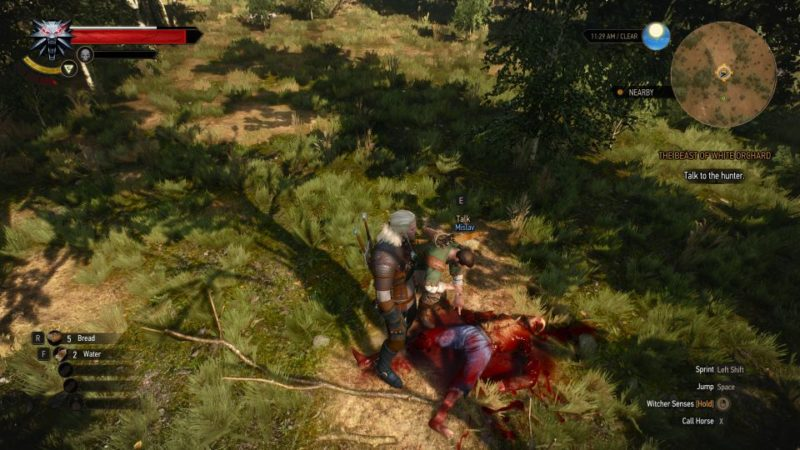 witcher 3 - the beast of white orchard mission guide