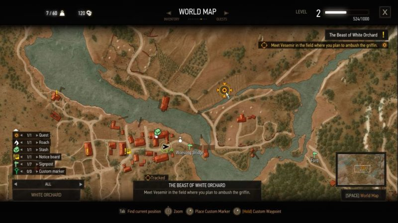 witcher 3 - the beast of white orchard walkthrough tips