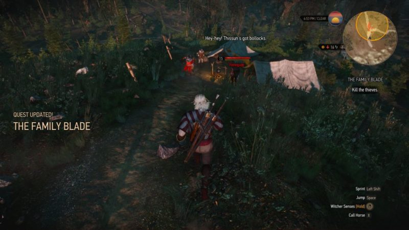 witcher 3 - the family blade quest
