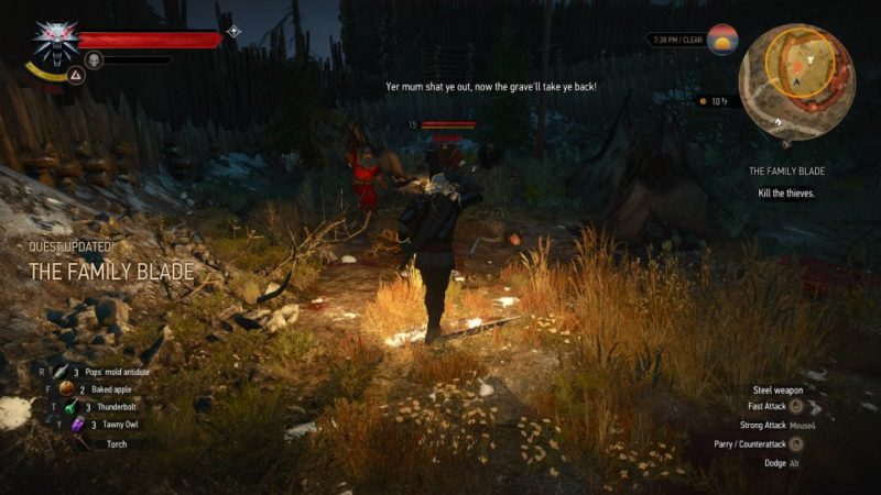 witcher 3 - the family blade quest walkthrough