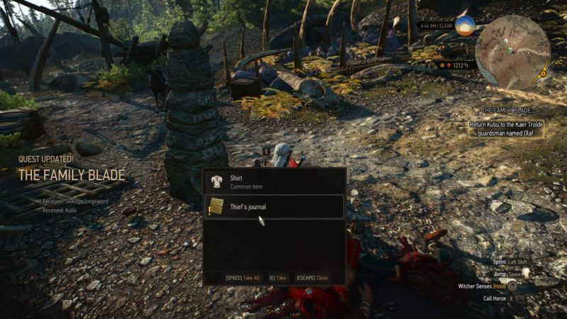 witcher 3 - the family blade wiki and guide
