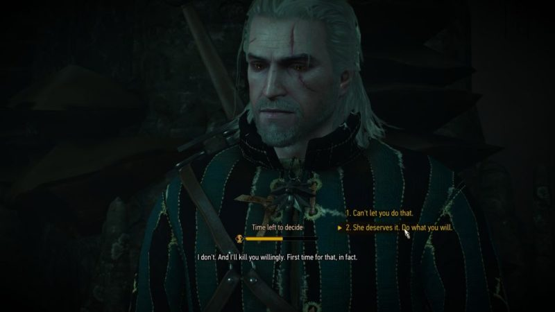 witcher 3 - wild at heart spare werewolf and let him kill her sister