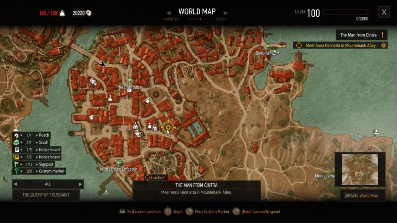 the witcher 3 - the man from cintra quest guide