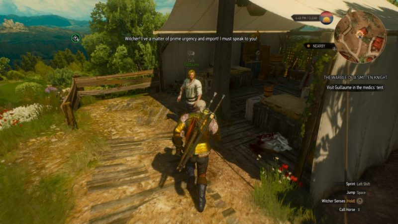 the witcher 3 - the warble of a smitten knight quest
