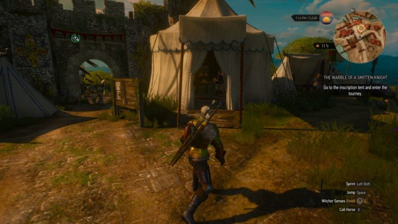 the witcher 3 - the warble of a smitten knight - tell guillaume or not