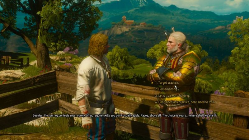 the witcher 3 - the warble of a smitten knight walkthrough