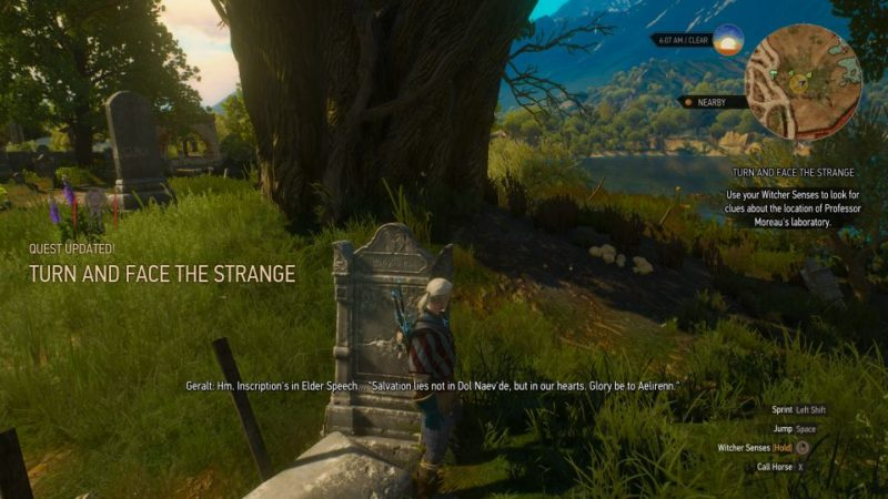 the witcher 3 - turn and face the strange quest guide
