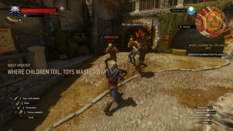 the witcher 3 - where children toil, toys waste away quest guide