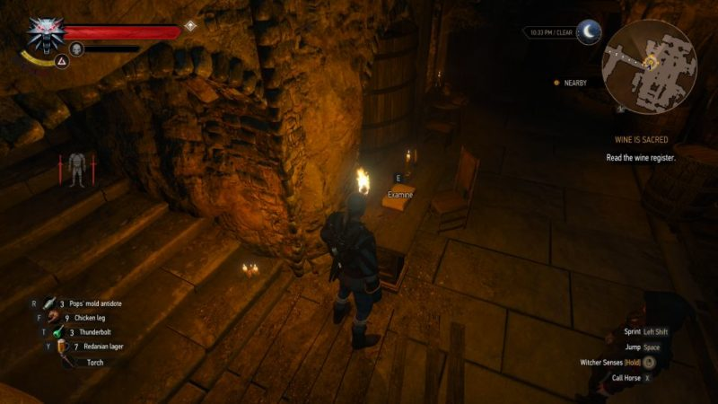 the witcher 3 - wine is sacred tips