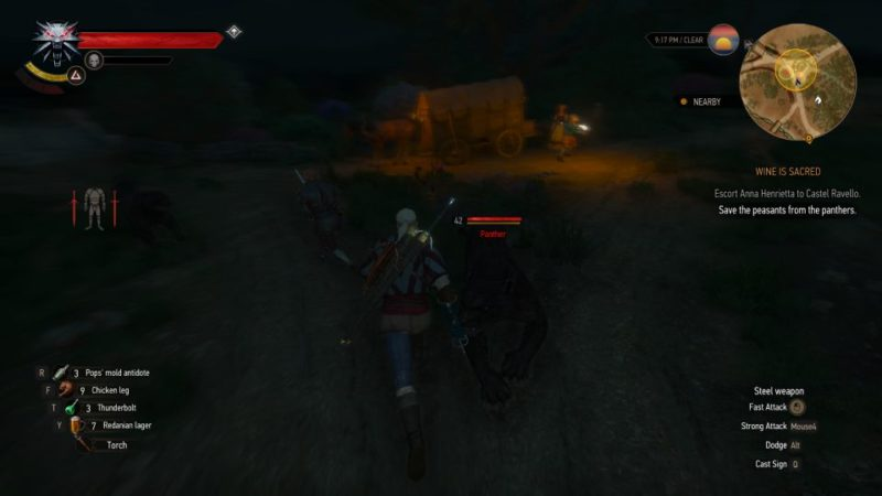 the witcher 3 - wine is sacred walkthrough