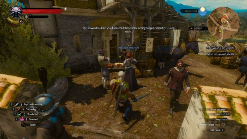 the witcher 3 - wine wars consorting tips