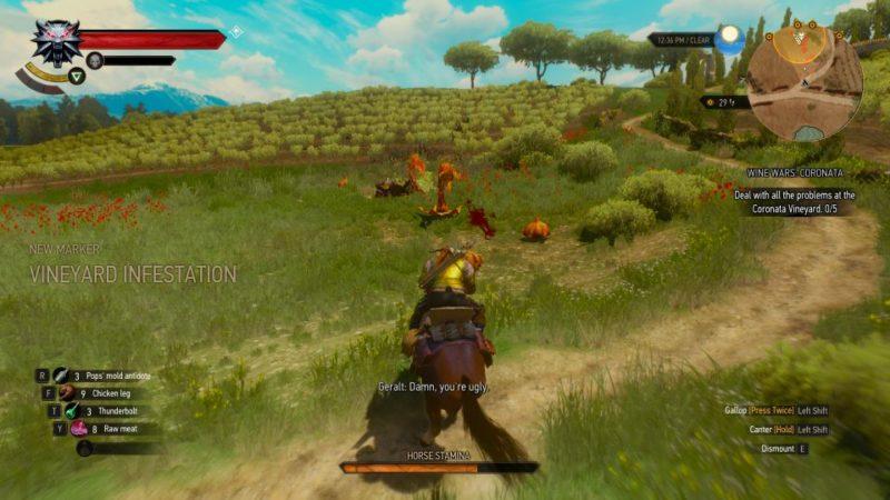 the witcher 3 - wine wars coronata quest guide