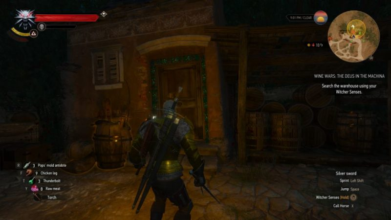 the witcher 3 - wine wars the deus in the machina guide
