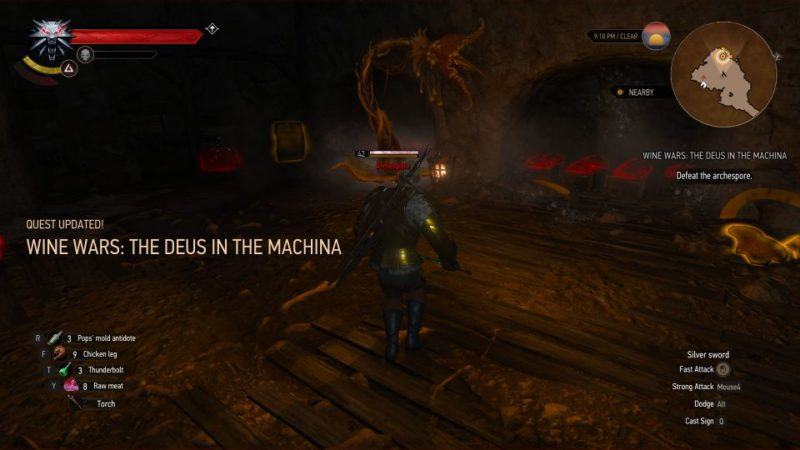 the witcher 3 - wine wars the deus in the machina quest guide