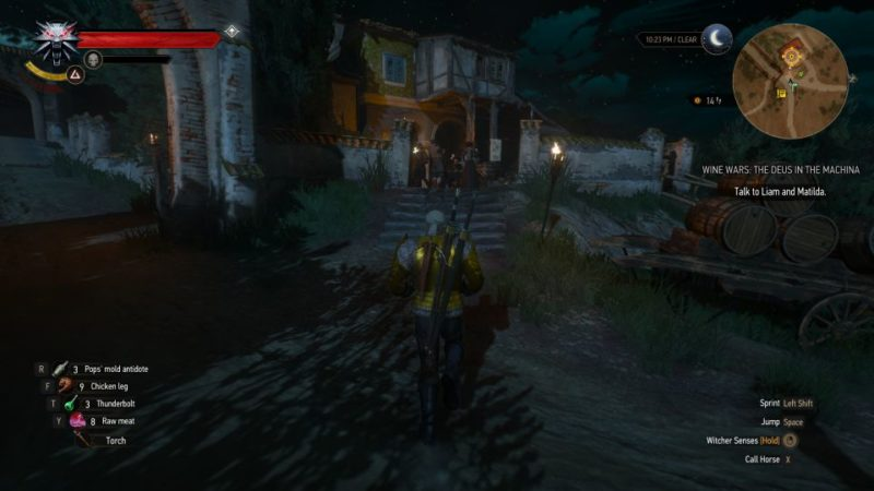 the witcher 3 - wine wars the deus in the machina tips