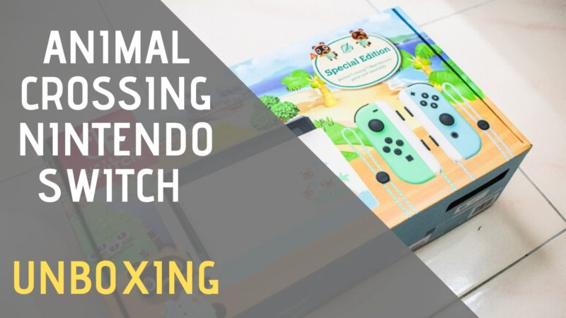 animal crossing new horizons switch unboxing